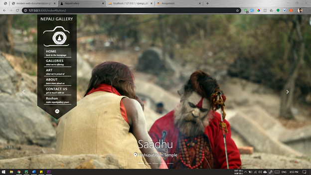 Django : NepaliGallery Website